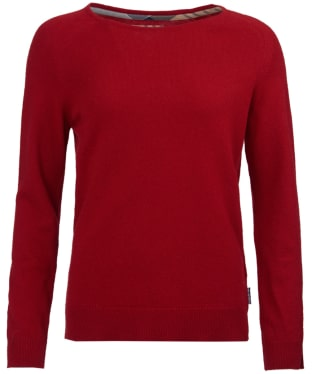 Women's Barbour Pendle Crew Neck Sweater - Chilli Red
