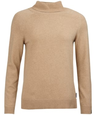 Women's Barbour Pendle Roll Collar Sweater - Camel