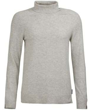 Women's Barbour Pendle Roll Collar Sweater - Pale Grey Marl