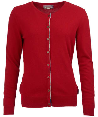 Women's Barbour Pendle Cardigan - Chilli Red