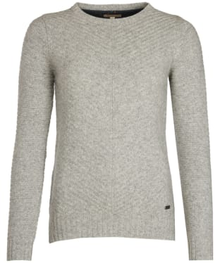Women's Barbour Greendale Crew Neck Sweater - Light Grey Marl