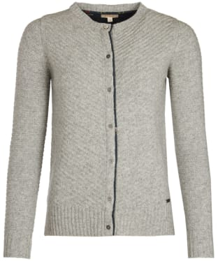 Women's Barbour Greendale Cardigan - Light Grey Marl