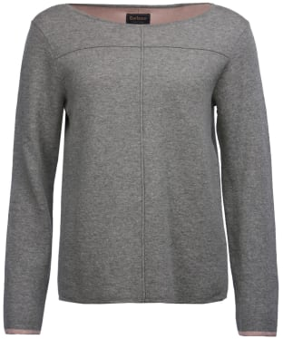 Women's Barbour Ailith Knitted Sweater - Light Grey Marl