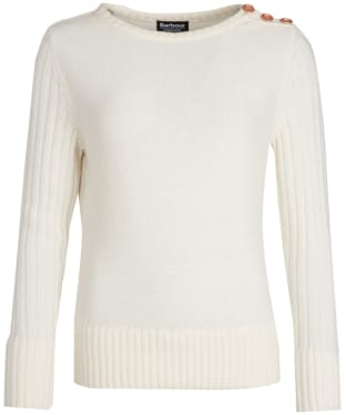 Women's Barbour International Losail Knitted Sweater - Off White