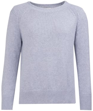 Women's Barbour Portsdown Crew Neck Sweater - Light Grey Marl