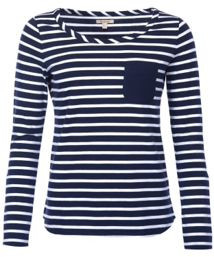 Women's Barbour Newquay Top - Navy / White