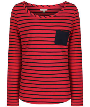 Women's Barbour Newquay Top - Reef Red / Navy