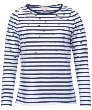 Women's Barbour Hemsby Top - White / Navy