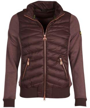 Women's Barbour International Grandstand Sweater Jacket - Cocoa
