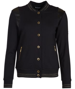 Women's Barbour International Grid Bomber Sweater Jacket