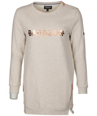Women's Barbour International Weld Sweatshirt - Oatmeal