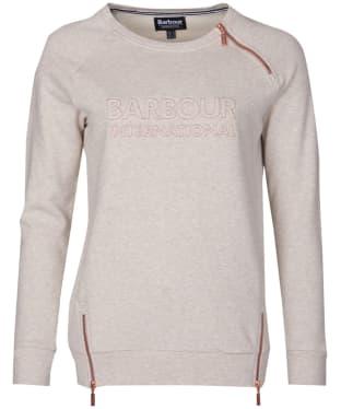 Women's Barbour International Geneva Sweatshirt - Oatmeal
