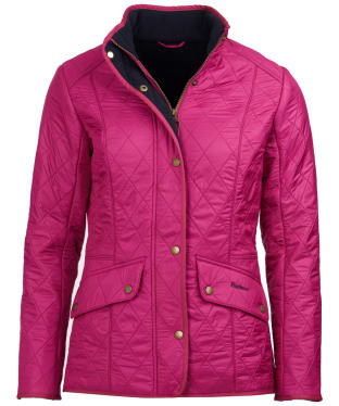 Women's Barbour Cavalry Polarquilt Jacket - Berry Pink