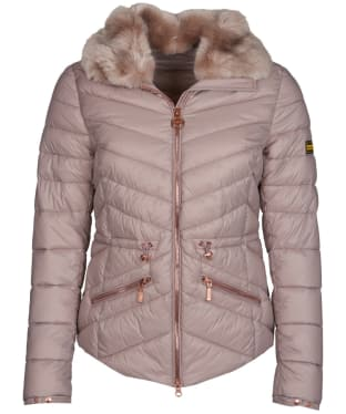 Women's Barbour International Valencia Quilted Jacket - Latte