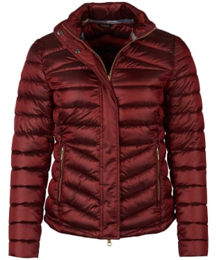 Women's Barbour Vartersay Quilted Jacket - Tartan Red