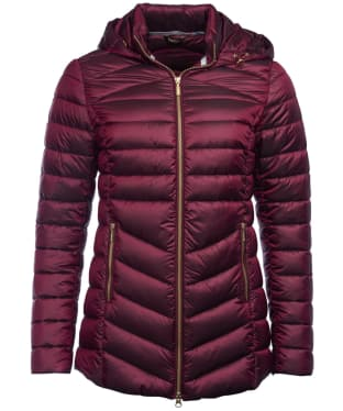 Women's Barbour Ailith Quilted Jacket - Berry Pink