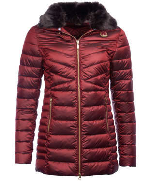 Women's Barbour Lomond Quilted Jacket - Tartan Red