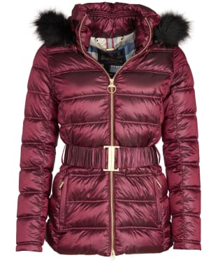 Women's Barbour Sundrum Quilted Jacket - Berry Pink