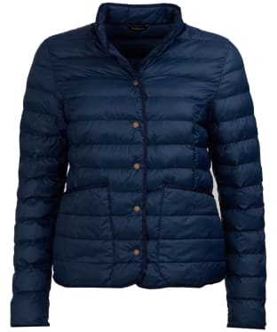 Women's Barbour Hollybush Quilted Jacket - Navy