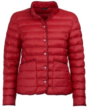 Women's Barbour Hollybush Quilted Jacket - Chilli Red