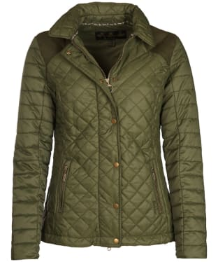 Women's Barbour Quail Quilted Jacket - Olive