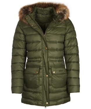 Women's Barbour Redpoll Quilted Jacket - Olive