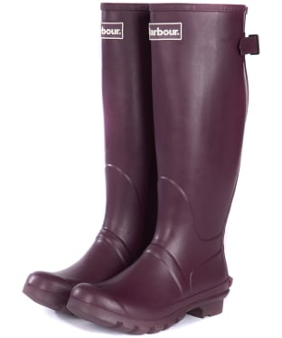 Women's Barbour Jarrow Back Adjustable Wellingtons - Aubergine