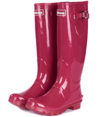Women's Barbour Bede Wellington Boots - Berry Pink