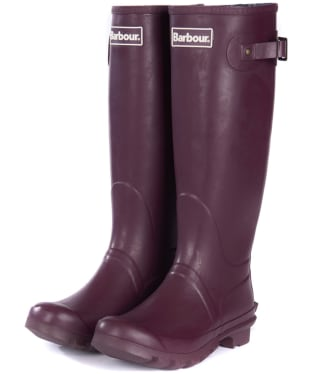 Women's Barbour Bede Wellington Boots - Aubergine
