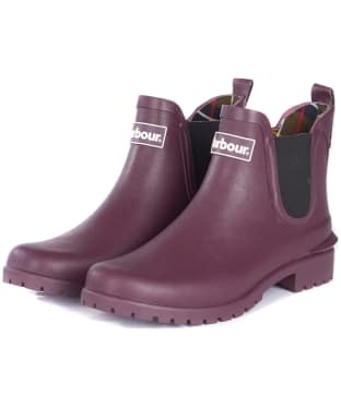 Women's Barbour Wilton Welly - Aubergine