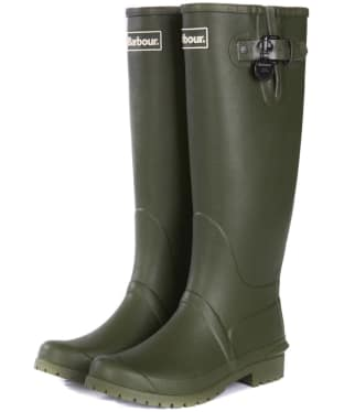 Women's Barbour Battersea Wellington Boots - Olive