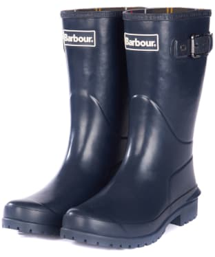 Women's Barbour Primrose Wellington Boots - Dark Navy