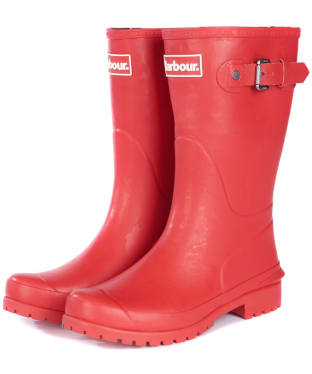Women's Barbour Primrose Wellington Boots - Tartan Red