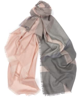Women's Barbour Tartan Square Scarf - Pink / Grey