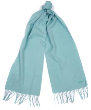 Women's Barbour Lambswool Woven Scarf - Mint Green