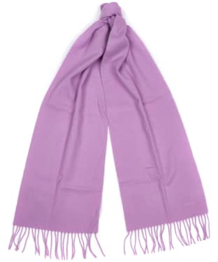 Women's Barbour Lambswool Woven Scarf - Soft Purple