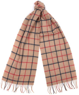 Women's Barbour Country Tattersall Scarf - Camel