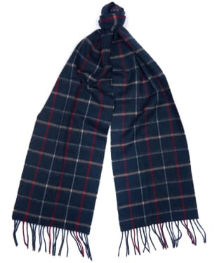 Women's Barbour Country Tattersall Scarf - Navy