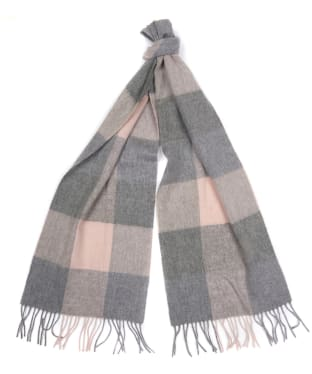 Women's Barbour Wilton Scarf - Pink / Grey