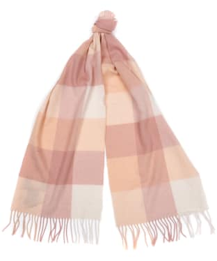 Women's Barbour Wilton Scarf - Rose / Peach
