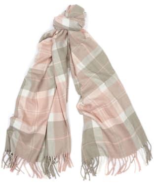 Women's Barbour Hailes Tartan Wrap - Pink / Grey Tartan