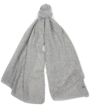 Women's Barbour Plain Boucle Scarf - Ash Grey