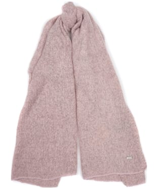Women's Barbour Plain Boucle Scarf - Pink
