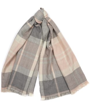 Women's Barbour Portree Reversible Wrap - Pink / Grey
