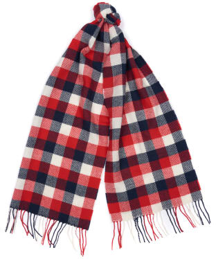 Women's Barbour Studland Scarf - Red / Navy