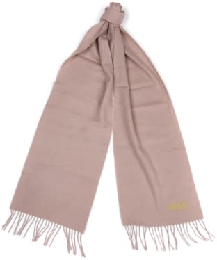 Women's Barbour International Plain Lambswool Scarf - Latte