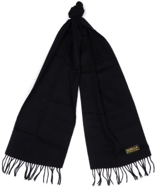 Women's Barbour International Plain Lambswool Scarf - Black
