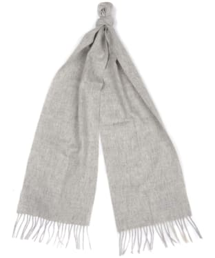 Women's Barbour International Plain Lambswool Scarf - Light Grey