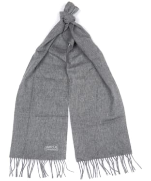Women's Barbour International Plain Lambswool Scarf - Charcoal Grey