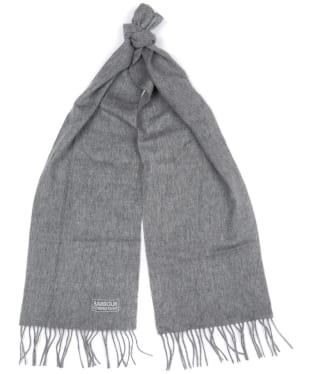 Women's Barbour International Plain Lambswool Scarf - Charcoal Grey